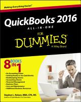 QuickBooks 2016 All in One For Dummies PDF