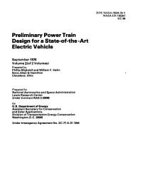 Preliminary Power Train Design for a State of the art Electric Vehicle PDF
