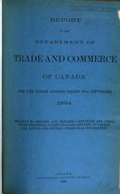 Quarterly Report of the Trade of Canada: Imports for Consumption and Exports