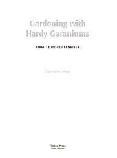 Gardening with Hardy Geraniums PDF