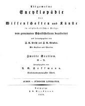 Allgemeine Encyklopädie der Wissenschaften und Künste: in alphabetischer Folge. ¬Section ¬2, H - N ; Theil 27, Juden - Jüdische Literatur. 2,27