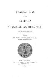Transactions of the American Surgical Association: Volume 12