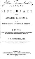 Dictionary of the English Language for the Use of Schools and General Students PDF