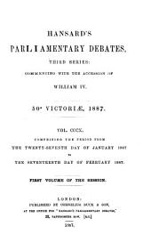 HANSARD'S PARLIAMENTARY DEBATES, THIRD SERIES: COMMENCING WITH THE ACCESSION OF WILLIAM IV.