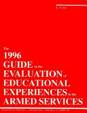The 1996 Guide to the Evaluation of Educational Experiences in the Armed Forces PDF