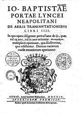 De Aeris transmutationibus libri IV