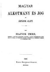 Magyar alkotmány és jog az Árpádok alatt