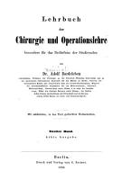 Lehrbuch der Chirurgie und Operationslehre PDF