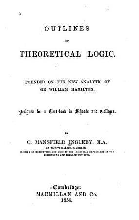 Outlines of Theoretical Logic PDF