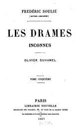 Les drames inconnus: Oliver Duhamel, Volume5