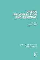 Urban Regeneration and Renewal