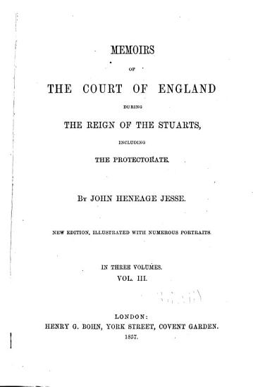 Memoirs of the Court of England During the Reign of the Stuarts PDF