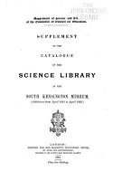 Catalogue of the Science Library in the South Kensington Museum PDF