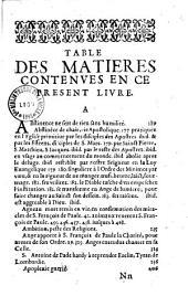 Vie et miracles du bienheureux S. François de Paule, fondateur de l'ordre des Minimes..., par V. P. F. Jean Chappot....