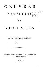 Oeuvres completes de Voltaire: tome trente-unième, Volume51