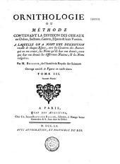Ornithologie, ou méthode contenant la division des oiseaux en ordres, sections etc