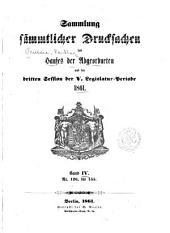 Sammlung der drucksachen ...: Band 4