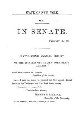 Annual Report of the Trustees of the State Library: Volume 62