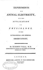 Experiments on animal electricity