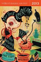 The Best American Nonrequired Reading 2013 PDF