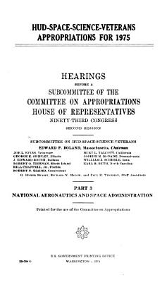 HUD-space-science-veterans Appropriations for 1975