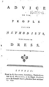 Advice to the People Called Methodists: With Regard to Dress