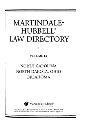 Martindale Hubbell Law Directory PDF
