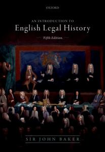 An Introduction to English Legal History PDF