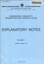 Harmonized Commodity Description and Coding System: Sec. I to VI, ch. 1 to 29