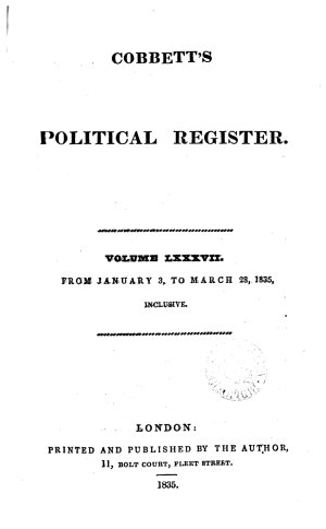 Cobbett s Weekly Political Register