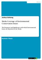 Media Coverage of Environmental Conservation Issues PDF