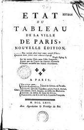 Etat ou tableau de la ville de Paris, nouvelle édition