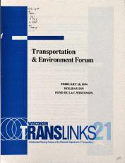 Transportation   Environment Forum PDF