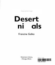 Desert Animals PDF