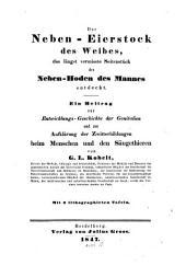 Der Nebeneierstock des Weibes, das längst vermisste Seitenstük des Nebenhodens des Mannes entdekt: mit 3 Tafeln