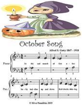 October Song - Beginner Tots Piano Sheet Music