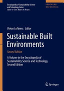 Sustainable Built Environments PDF