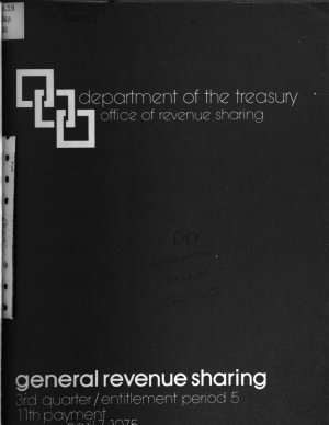 Publications Related to Payments Under the State and Local Fiscal Assistance Act of 1972  revenue Sharing