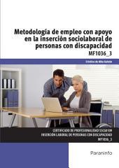 MF1036_3 - Metodología de empleo con apoyo en la inserción sociolaboral de personas con discapacidad