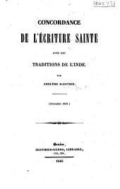 Concordance de l'Écriture Sainte avec les traditions de l'Inde, etc