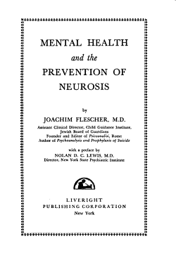 Mental Health and the Prevention of Neurosis PDF