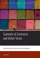 Contents of Contracts and Unfair Terms PDF
