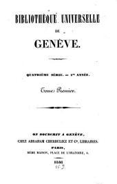 Bibliothèque universelle de Genève: Volume 1