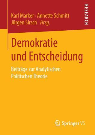 Demokratie und Entscheidung PDF