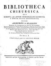 Bibliotheca chirurgica: qua scripta ad artem chirurgicam facienta a rerum initiis recensentur