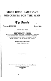 Mobilizing America's Resources for the War