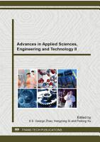 Advances in Applied Sciences  Engineering and Technology II PDF