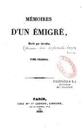 Mémoires d'un émigré, écrits par lui-même