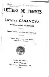 Lettres de femmes à Jacques Casanova