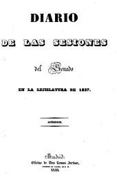 Diario de las sesiones de Cortes: 1837 (1838), Apéndice